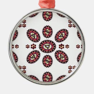 Floral Paisley Argyle Metal Ornament