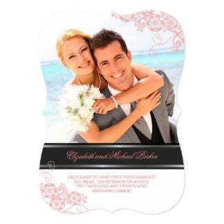 Floral Paisley Boho Vintage Chic Photo Wedding Card