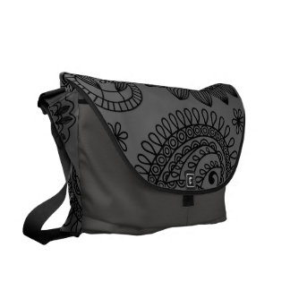 Floral Paisley! Courier Bag