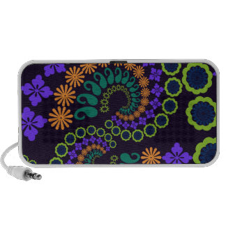 Floral Paisley Design Doodle iPhone Speakers