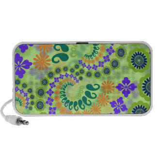 Floral Paisley Design Doodle PC Speakers