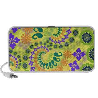 Floral Paisley Design Doodle Speaker System