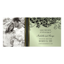 Floral Paisley Elegant Save The Date Photo Card