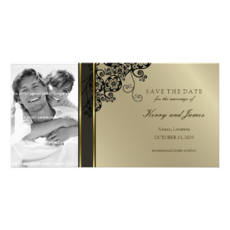 Floral Paisley Elegant Vintage Chic Save The Date Card