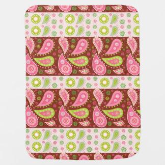 Floral Paisley Panels Swaddle Blanket