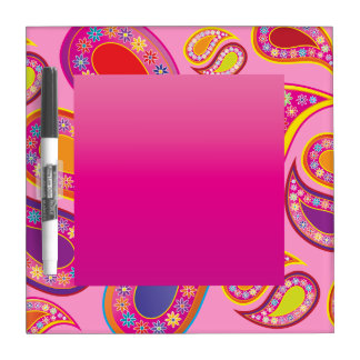 Floral Paisley Party Dry Erase Dry Erase Board
