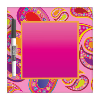 Floral Paisley Party Dry Erase Dry-Erase Board