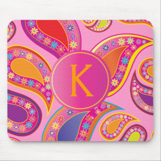 Floral Paisley Party Mouse Pad