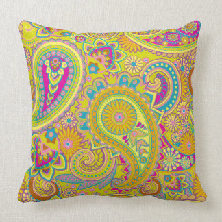 Floral Paisley seamless pattern I + your ideas Throw Pillow
