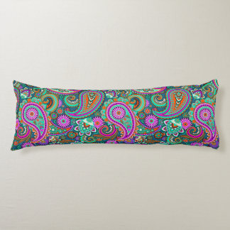 Floral Paisley seamless pattern II + your ideas Body Pillow