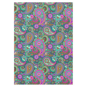 Floral Paisley Seamless Pattern II + Your Ideas Tablecloth