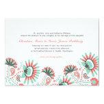 "Floral Paisley Wedding Invitation 5"" X 7"" Invitation Card"