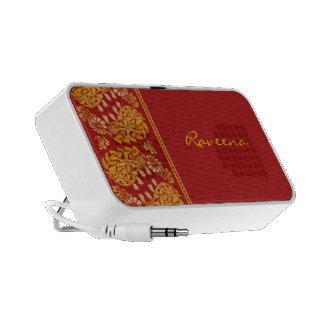 Floral Paisleys Indian Style Portable Speaker