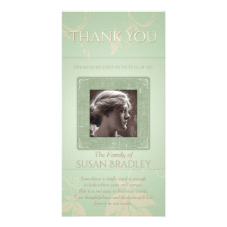 Floral Pale Green Template Sympathy Thank You P