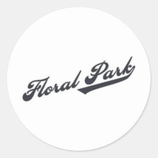 Floral Park Round Sticker