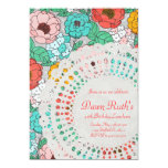 "Floral Party Bridal Luncheon garden doily invite 5"" X 7"" Invitation Card"