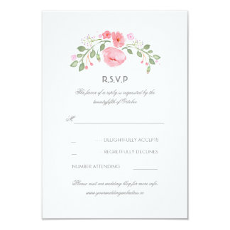 Floral Pastel Flowers Wedding RSVP Card