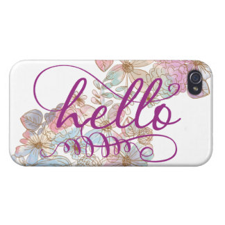 Floral Pastel Hello iPhone Case iPhone 4/4S Cover