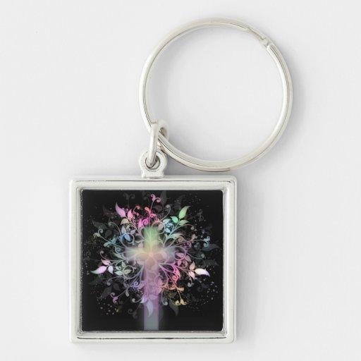 Floral Pastel Keychain