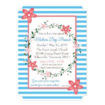 Floral Pastel Mother's Day Brunch Invitation Card