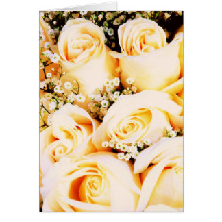 Floral Pastel Roses Greeting Cards