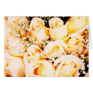 Floral Pastel Roses Greeting Card