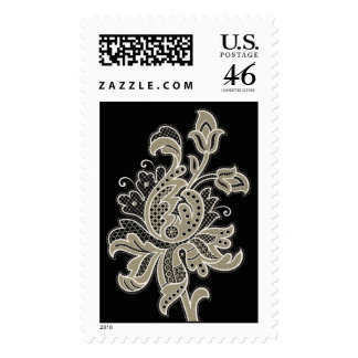 Floral Pattern 10 Stamps