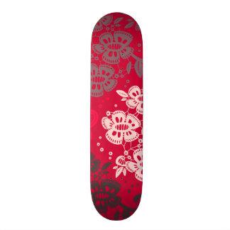Floral Pattern #11 - Red Skateboard