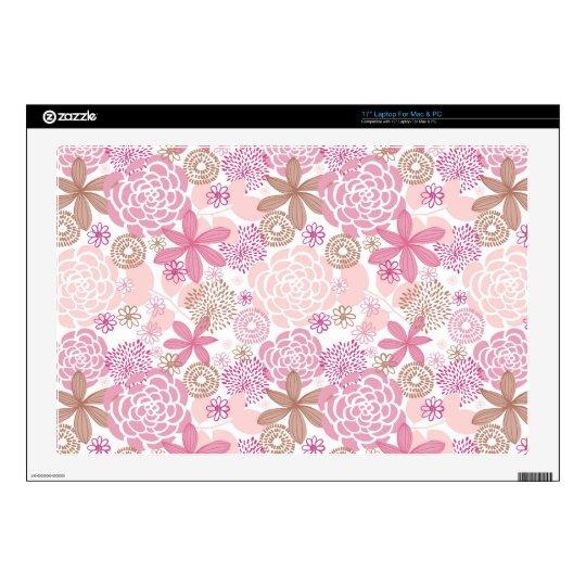 "Floral Pattern 17"" Laptop Skins"