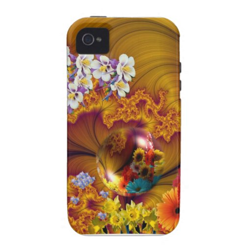 Floral Pattern # 18 iPhone 4 Cover