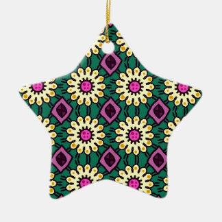 Floral Pattern #2 Ceramic Ornament