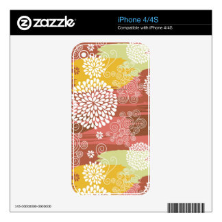 Floral pattern 2 decal for the iPhone 4S