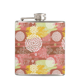 Floral pattern 2 flask