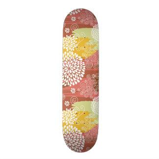 Floral pattern 2 skateboard deck