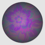Floral Pattern 3v Classic Round Sticker