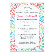 Floral Pattern - 3x5 Bridal Shower Invitation