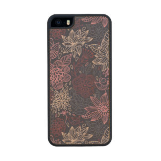 Floral pattern 4 2 carved® maple iPhone 5 slim case