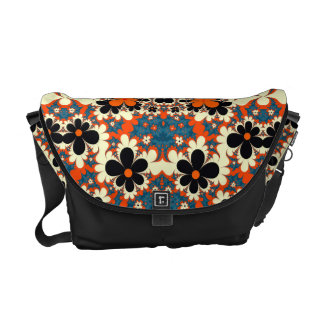 floral pattern abstract design fractal messenger bag