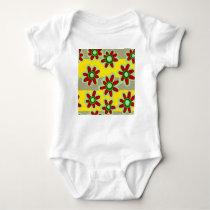 floral pattern baby bodysuit