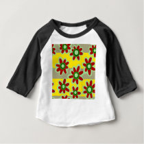 floral pattern baby T-Shirt