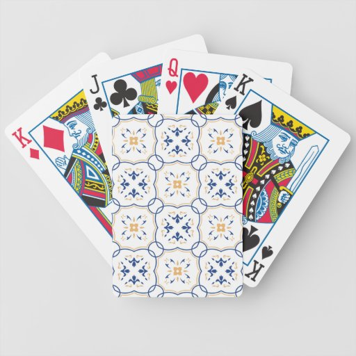 Floral Pattern Bicycle Playing Cards