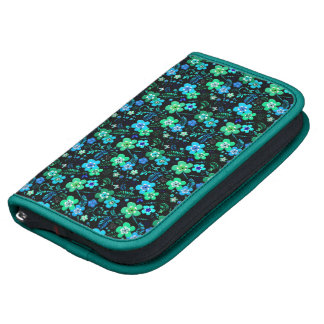 Floral pattern blue and teal planner