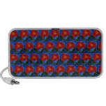 Floral Pattern. Blue with Red Poppy Flower. Speaker System