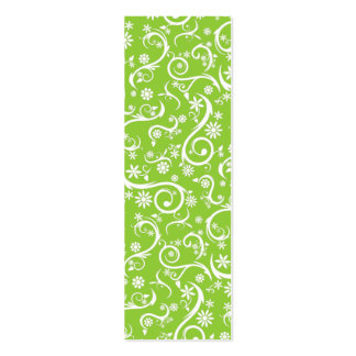 Floral Pattern Bookmark Double-Sided Mini Business Cards (Pack Of 20)