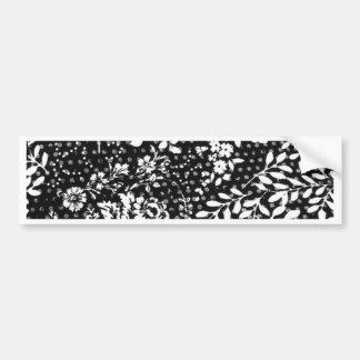 floral pattern bumper sticker