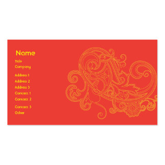 Floral Pattern - Business Business Card
