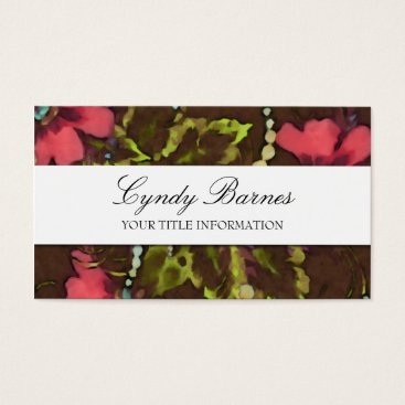 Professional Business Floral Pattern Business Card