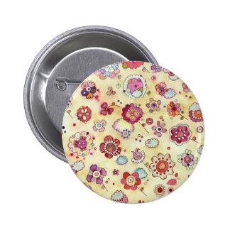 Floral Pattern Button