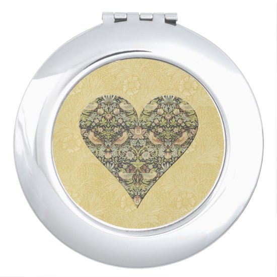 Floral Pattern by William Morris - Compact Mirror