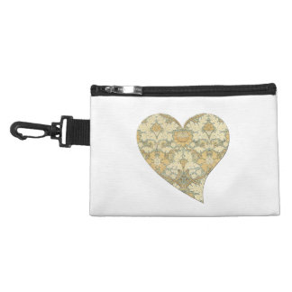 Floral Pattern by William Morris into Heart Accessories Bag